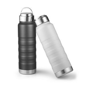 24 Oz. Glacier Double Wall 18/8 Stainless Steel Water Bottle